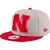 New Era Men's Nebraska Cornhuskers Grey/Scarlet Grand Snap 9Fifty Adjustable Hat