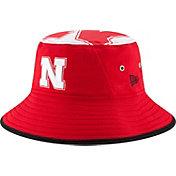 New Era Men's Nebraska Cornhuskers Scarlet Logo Topper Bucket Hat