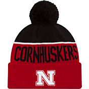 New Era Men's Nebraska Cornhuskers Scarlet/Black NE 15 Sport Knit Beanie