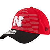 New Era Men's Nebraska Cornhuskers NE 15 Stars Red/Black 39Thirty Performance Hat