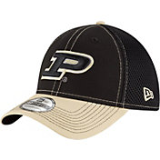 New Era Men's Purdue Boilermakers Black/Old Gold Team Front Neo 39Thirty Stretch Fit Hat
