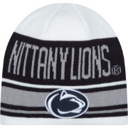 New Era Men's Penn State Nittany Lions White/Blue/Grey Snow Top Knit Beanie