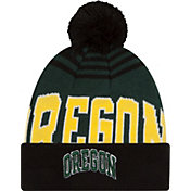 New Era Men's Oregon Ducks Black/Green Logo Whiz 2 Knit Beanie