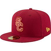 New Era Men's USC Trojans Cardinal Bevel Team Low Profile 59Fifty Hat
