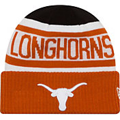 New Era Men's Texas Longhorns Biggest Fan 2.0 Burnt Orange/White/Black Knit Beanie
