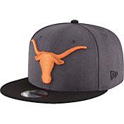 New Era Men's Texas Longhorns Heather Grey Basic Snap 9FIFTY Hat