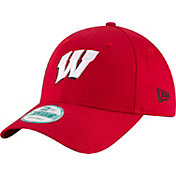 New Era Men's Wisconsin Badgers Red The League 9Forty Adjustable Hat