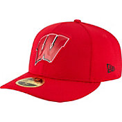 New Era Men's Wisconsin Badgers Red Bevel Team Low Profile 59Fifty Hat