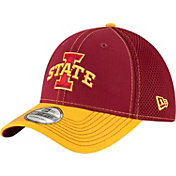 New Era Men's Iowa State Cyclones Cardinal/Gold Team Front Neo 39Thirty Stretch Fit Hat
