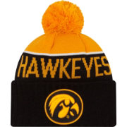New Era Men's Iowa Hawkeyes Black/Gold NE 15 Sport Knit Beanie