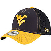 New Era Men's West Virginia Mountaineers Blue/Gold Team Front Neo 39Thirty Stretch Fit Hat