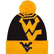 New Era Men's West Virginia Mountaineers Gold/Blue Logo Whiz 2 Knit Beanie
