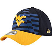 New Era Men's West Virginia Mountaineers Blue/Gold NE 15 Stars 39Thirty Performance Hat