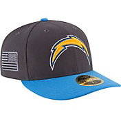 New Era Men's San Diego Chargers Crafted in America 59Fifty Graphite Fitted Hat