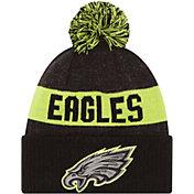New Era Men's Philadelphia Eagles Sport Cyber Yellow Knit Beanie