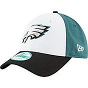 New Era Men's Philadelphia Eagles Perfect Block White 9Forty Adjustable Hat