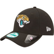 New Era Men's Jacksonville Jaguars League 9Forty Adjustable Black Hat