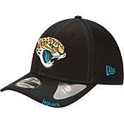 New Era Men's Jacksonville Jaguars 39Thirty Neoflex Black Stretch Fit Hat