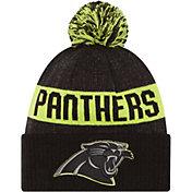 New Era Men's Carolina Panthers Sport Cyber Yellow Knit Beanie