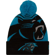 New Era Men's Carolina Panthers Logo Whiz Cuffed Knit Hat