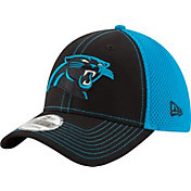 New Era Men's Carolina Panthers Team Front Neo 39Thirty Flex Hat