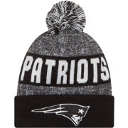 New Era Men's New England Patriots Sport Black Knit Beanie