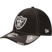 New Era Men's Oakland Raiders 39Thirty Neoflex Black Stretch Fit Hat