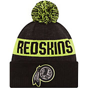New Era Men's Washington Redskins Sport Cyber Yellow Knit Beanie