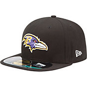 New Era Men's Baltimore Ravens Sideline Authentic 59Fifty Black Fitted Hat
