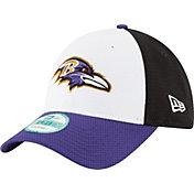 New Era Men's Baltimore Ravens Perfect Block White 9Forty Adjustable Hat