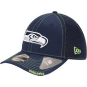 New Era Men's Seattle Seahawks 39Thirty Neo Navy Stretch Fit Hat
