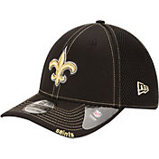New Era Men's New Orleans Saints 39Thirty Neo Flex Black Hat