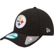 New Era Men's Pittsburgh Steelers League 9Forty Adjustable Black Hat