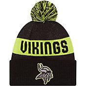 New Era Men's Minnesota Vikings Sport Cyber Yellow Knit Beanie