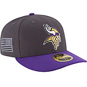 New Era Men's Minnesota Vikings Crafted in America 59Fifty Graphite Fitted Hat