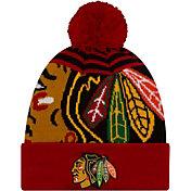 New Era Men's Chicago Blackhawks Logo Whiz Knit Hat