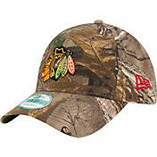 New Era Men's Chicago Blackhawks 9Forty The League Real Tree Camo Adjustable Hat