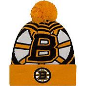 New Era Men's Boston Bruins Logo Whiz Knit Hat