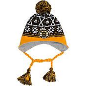 New Era Men's Boston Bruins Stay Toasty Black/Gold Peruvian Knit Hat