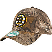 New Era Men's Boston Bruins 9Forty The League Real Tree Camo Adjustable Hat