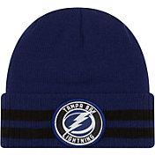 New Era Men's Tampa Bay Lightning Two Stripe Remix Knit Hat