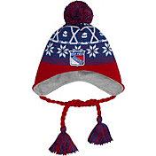 New Era Men's New York Rangers Stay Toasty Blue/Red Peruvian Knit Hat