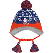 New Era Men's New York Islanders Stay Toasty Blue/Orange Peruvian Knit Hat