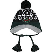 New Era Men's Minnesota Wild Stay Toasty Black/Green Peruvian Knit Hat