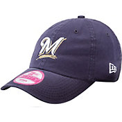 New Era Women's Milwaukee Brewers 9Forty Essential Navy Adjustable Hat