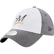 New Era Women's Milwaukee Brewers 9Twenty Sparkle Shade White/Grey Adjustable Hat