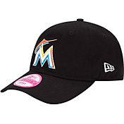 New Era Women's Miami Marlins Essential 9Forty Black Adjustable Hat