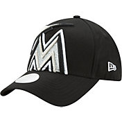 New Era Women's Miami Marlins 9Forty Glitter Glam Adjustable Hat