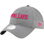 New Era Women's Philadelphia Phillies 9Twenty Team Tagged Grey/Pink Adjustable Hat