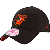 New Era Women's Baltimore Orioles 9Forty Black Adjustable Hat